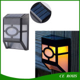 Dim Mode 10LEDs retro blanco y cálido blanco PIR Sensor solar LED pared camino lámpara para jardín pasillo pared