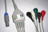 Pressão de Biosys 6pin Aha/cabo Leadwire ECG do grampo 5