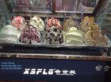 販売(セリウムのapprovel)のためのイタリアのGelatoのアイスクリームのショーケース/アイスクリームのフリーザー