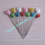 かなり55mm Pearl Head Colored Heart Straight Pin