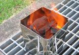 De nieuwe Schoorsteen van de Houtskool van het Roestvrij staal van de Metgezel van de Houtskool Zilveren
