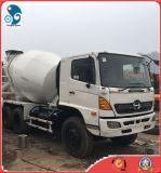 일본 (6*4 Hino 500)에서 녹슬지 않는 사용된 시멘트 구체 믹서 트럭
