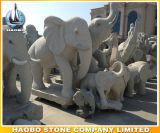 Steinhand geschnitzte Elefant-Statue Thailand