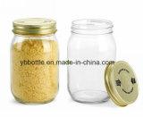 De Kruik van het suikergoed, 12oz/380ml ontruimt om de Kruik van de Metselaar met Wit/Gouden Deksel