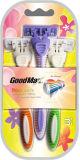 三重の刃のすばらしい形の使い捨て可能な剃るかみそり(Goodmax)