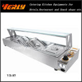 Горячее Sale Commercial Food Warmer, Electric Bain Мари с 4 Basins, CE Approved обложки Flat Glass (VB-84)