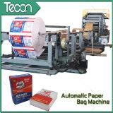 Sacos de papel colados automáticos da válvula que fazem a máquina