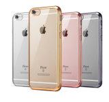 Claro transparente ultra fino suave de electrochapado del caso TPU del laminado para el iPhone 5 5s 6 6plus (XSDD-006)