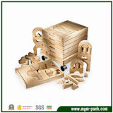 Juguete de madera del edificio de los cabritos educativos de la manera del precio de fábrica