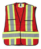 Het Vest van de Veiligheid van het hallo-zicht met de Schouder van de Klitband (DFV1083)