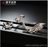 De recentste Rhodium van de Juwelen van de Manier van de Luxe Vastgestelde Ring van het Plateren met Synthetisch CZ