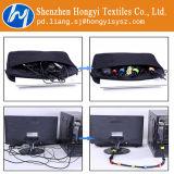 Enveloppe réutilisable blanche de crochet et de câble de boucle