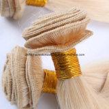 Cabelo humano do Virgin brasileiro reto louro do cabelo humano