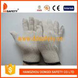 Ddsafety 2017の白く自然な綿ポリエステル働く手袋
