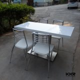 Kkr White Modern Solid Surface Stone Restaurant Table à manger