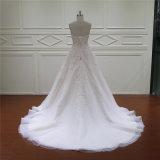 Würdevolle Dame Cheap A - Zeile Brautkleid-Hochzeits-Kleid (HD024)