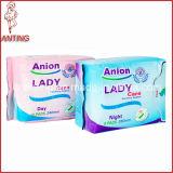 陰イオンFemale Sanitary Napkin、Women Sanitary Napkin、Super AbsorptionのMaternity Napkin