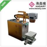 중국은 물자 20W 섬유 Laser 표하기 기계의 넓게 둥글게 되었다