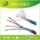 Quatre paires du câble LAN CAT6 de câble de réseau