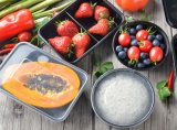 Pp.-Mikrowellen-sichere Wegwerfmitnehmernahrungsmittelbehälter-Küche