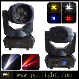 la luz principal móvil de la viga de 4PCS 25W LED con la lente gira