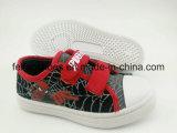 漫画デザイン子供のキャンバスの注入の靴、競争価格の最も新しい偶然靴