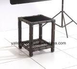 Конкурсный напольный комплект кофеего патио садом Sythetic PE-Ротанга установленным (YT098) с Stackable стулом и журнальным столом
