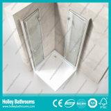 Porte de pliage articulée vendant le cadre simple en aluminium de douche de matériel d'acier inoxydable (SE704C)