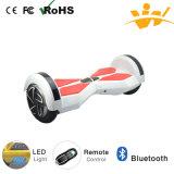 Neues 8inch, das elektrischen Roller mit Bluetooth und LED-Licht balanciert