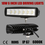 6 pollici 18W Bridgelux LED Driving Light con 1080lm