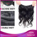 Extensão não processada humana do cabelo humano da onda do corpo