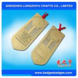 Marque-page avec le ruban Custom Metal Bookmark Paper Clip Gold Souvenirs