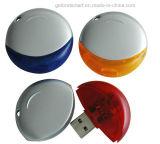 Lecteur flash USB en plastique de forme ronde avec la lanière de collet