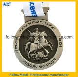 Medaglie di maratona di rivestimento antico con il disegno 3D