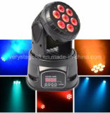 7*12W 5 in 1 RGBWA LED Mini Wash Moving Head Club Party DJ Light