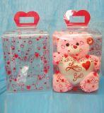 Изготовленный на заказ коробка упаковки подарка рождества (ясная пластичная коробка)