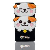 Caixa do telefone dos desenhos animados do silicone de quatro cores