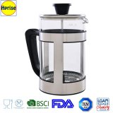 Commerci all'ingrosso Coffee Maker Pot Luxury Stainless Steel e Borosilicate Glass Heat Resisitant Press francese Coffee Maker Pot