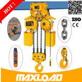 Tonne à télécommande de constructeur mini 1 2 tonnes élévateur à chaînes électrique de 5 tonnes