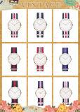 (DC-1087) Signora calda Wristwatch della cinghia del metallo della vigilanza degli uomini delle vigilanze del quarzo della vigilanza del Daniel Wellington di vendita