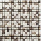 Mezclado placas de piedra natural de color para la construcción de viviendas de material mosaico (FYSSC073)