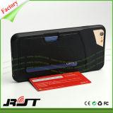 Cassa di cuoio del telefono dell'unità di elaborazione della fessura per carta TPU per il iPhone 6s