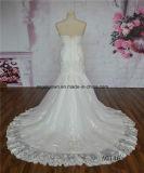 Preço de grosso do laço francês do vestido de casamento da sereia