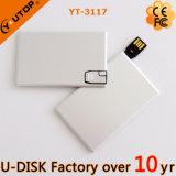 movimentação magro do flash do USB do cartão de crédito do metal 1-64GB (YT-3101-03)