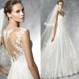 Lace incantante A - riga Tulle Sleeveless Natural Waist Ball Gown Wedding Dress