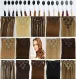80colors AvailableのHair Extensionの絹のStraight Clip