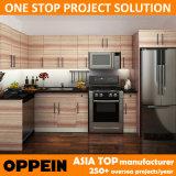 Houten Keukenkast van de Melamine van de Stijl van Oppein de Moderne Amerikaanse (OP14-M03)
