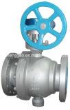 Válvula de esfera montada eixo do aço inoxidável