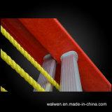 Vielzweckisolierfiberglas-teleskopische Seil-Strichleiter