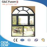 Doppia finestra fissa di alluminio lustrata insonorizzata con il disegno dei ciechi